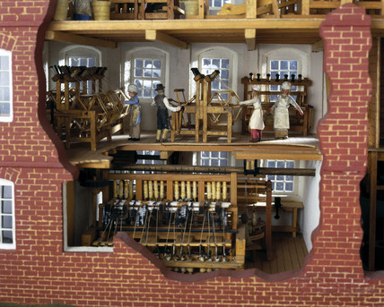 Collycroft worsted textile mill, Bedworth, Warwickshire, c 1790.