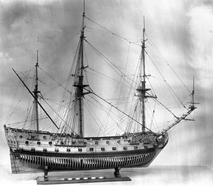 60 gun warship, 1704.