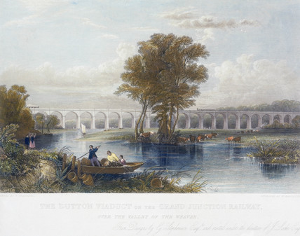The Dutton Viaduct, River Weaver, Cheshire, 1837-1840.