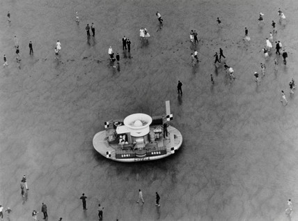 SR-N1 hovercraft at Calais, France, 24 July 1959. '