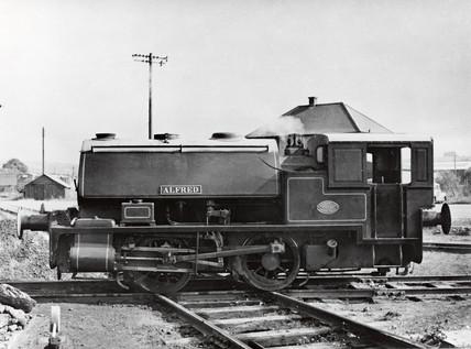 'Alfred' 0-4-0ST industrial steam locomotive, 1953.