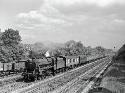 London Midland & Scottish Railway clas 5MT 2-6-0, 19 June 1954.