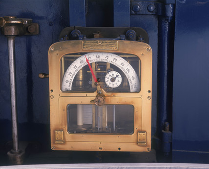 Speed recorder from the 'The Mallard' 4-6-2 steam locomotive no 4468, 1938.