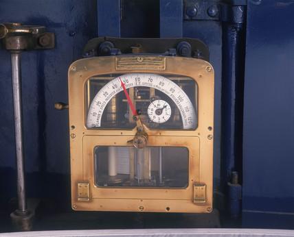 Speed recorder from the 'The Mallard' 4-6-2 steam locomotive no 4468, 1938.