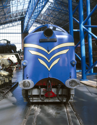 Prototype 'Deltic' diesel locomotive, 1955.