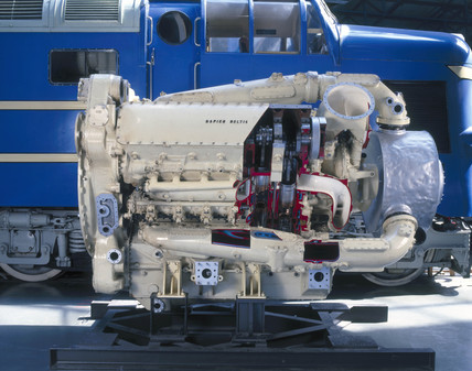 Detail of the engine of the Prototype 'Delt
