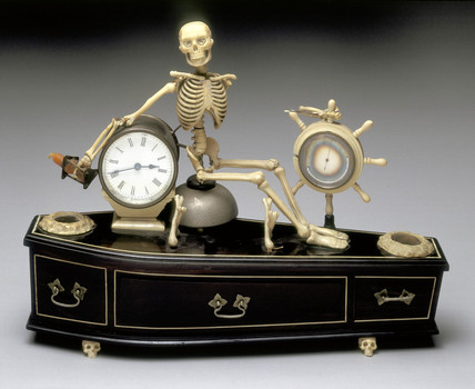 Alarm clock, probably English, 1840-1900.