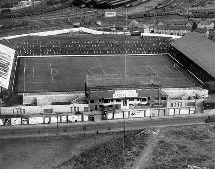 Ninian Park, Cardiff, 1947.