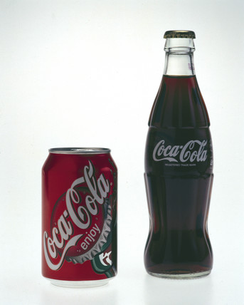 Two Coca-Cola soft drinks, late 1990s.