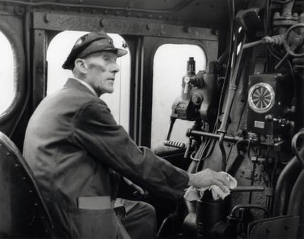 Engine driver, c 1953.