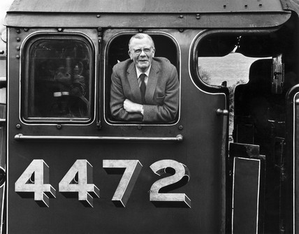 Railway photographer Bishop Eric Treacy, c 1970s.