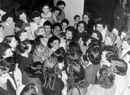 Frankie Vaughan at a fan party, 12 June 1955.