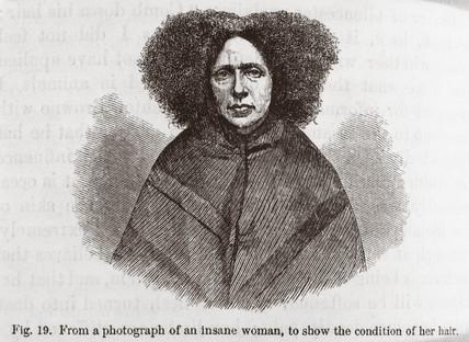 'Insane' woman, 1872.