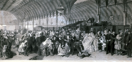 'The Railway Station', 1862.