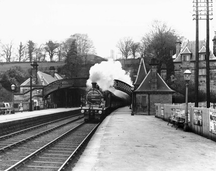 Cromford Station in Derbyshire, 15 June 191