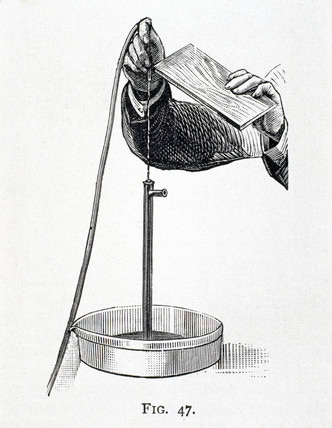 Demonstrating 'Chichester Bell's Singing Water-jet', 1912.