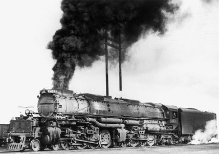 Union Pacific 'Big Boy' clas steam locomotive, 1941.