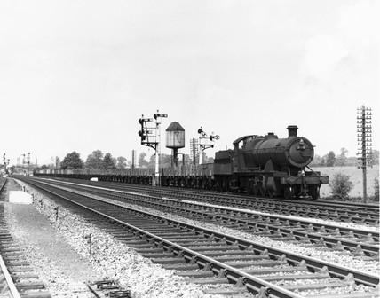 Empty freight train No 2818 pasing Honeybourne, June 1961.