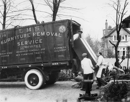 LMS removal men, Radlett, Hertfordshire, c 1933.