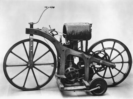 Daimler motorcycle, 1885.
