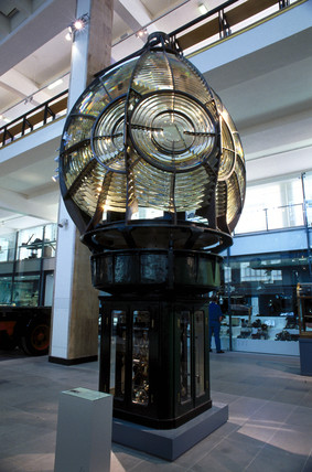 Lighthouse optic, Science Museum, London, June 2000.