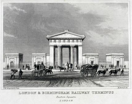 'London & Birmingham Railway Terminus - Euston Square', 1845-1860.