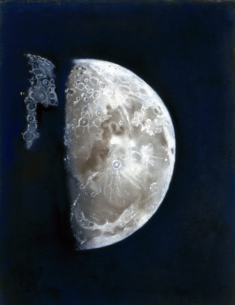 Crayon drawing of the Moon, 1796.
