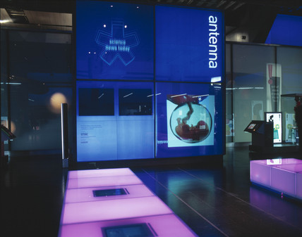 The Antenna area, Wellcome Wing, Science Museum, London, 2000.