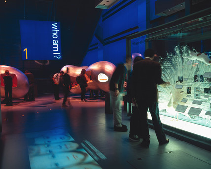 The Who Am I? gallery, Wellcome Wing, Science Museum, 2000.