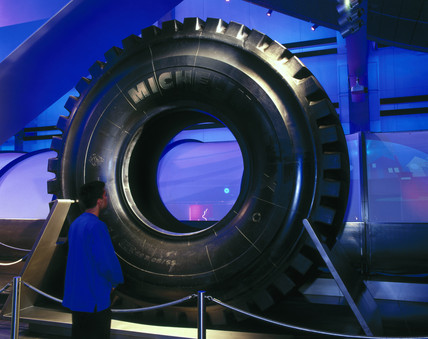 The Michelin giant tyre, Wellcome Wing, Science Museum, 2000.