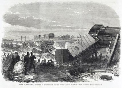 Fatal accident at Staplehurst, Kent, June 1865.