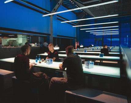 Deep Blue Cafe, Wellcome Wing, Science Museum, London, 2000.