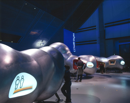 Bloids in the Who am I? gallery, Science Museum, London, 2000.