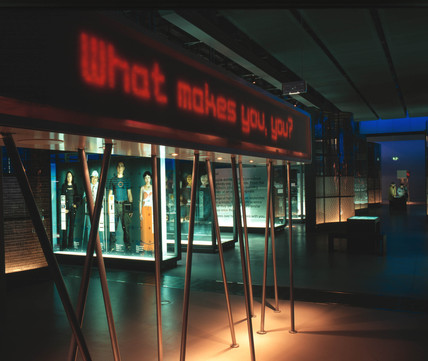 'What makes you, you?' mesage board in the Who am I? gallery, 2000.