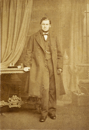 Thomas Henry Huxley, British biologist, c 1860s.