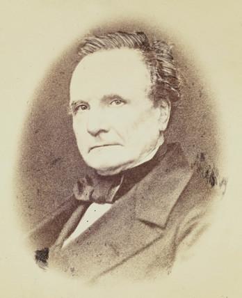 Charles Babbage, mathematician and pioneer of machine computing, c 1860.