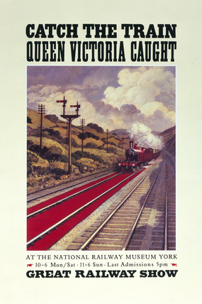 Catch the train Queen Victoria caught', 1990.
