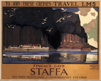 'Fingal's Cave, Staffa', LMS poster, c 1930s.