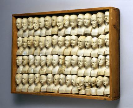 Phrenological heads, 1831.
