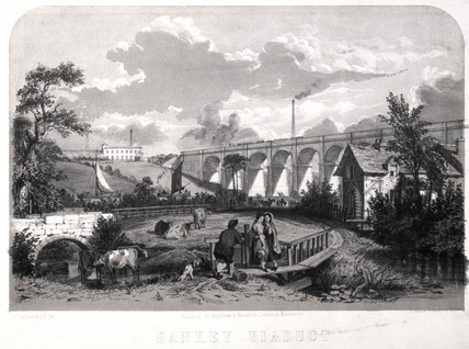Sankey Viaduct, Cheshire, on the London & North Western Railway, 1848.