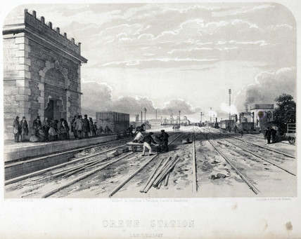 Crewe station, Cheshire, 1848.