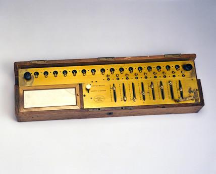 Thomas de Colmar's Arithmometer, c 1890.