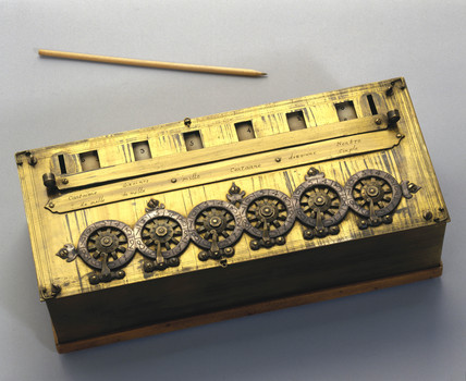 Pascal's calculating machine, 1642.