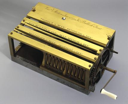 Stanhope's calculating machine, 1777.