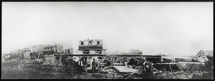 Aftermath of a fatal rail accident at Staplehurst, Kent, 9 June 1865.