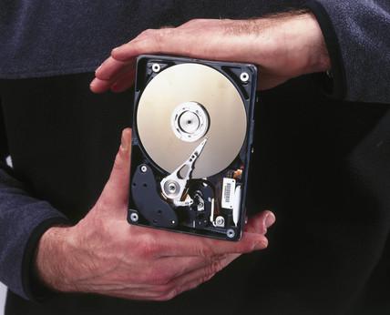 IBM computer 6 gigabyte hard drive, 1999.