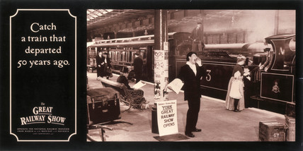 'Catch a train that departed 50 years ago', NRM poster, 1990.