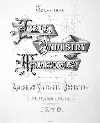 Title page from 'Treasures of Art, Industry and Manufacture', 1876.