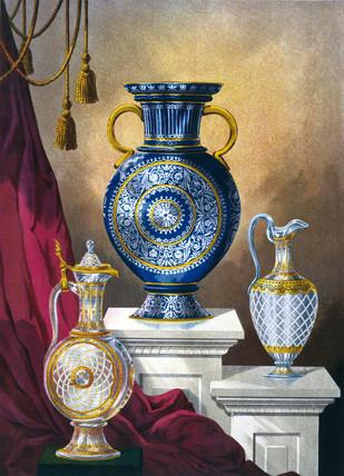 Bohemian glasware, 1876.