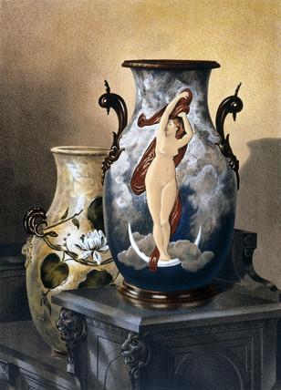 Decorative vases, 1876.